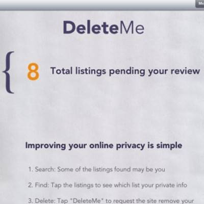 DeleteMe App Covers Your Internet Tracks